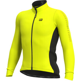 Alé Cycling Solid Fondo Maglia Jersey A Maniche Lunghe Uomo, giallo